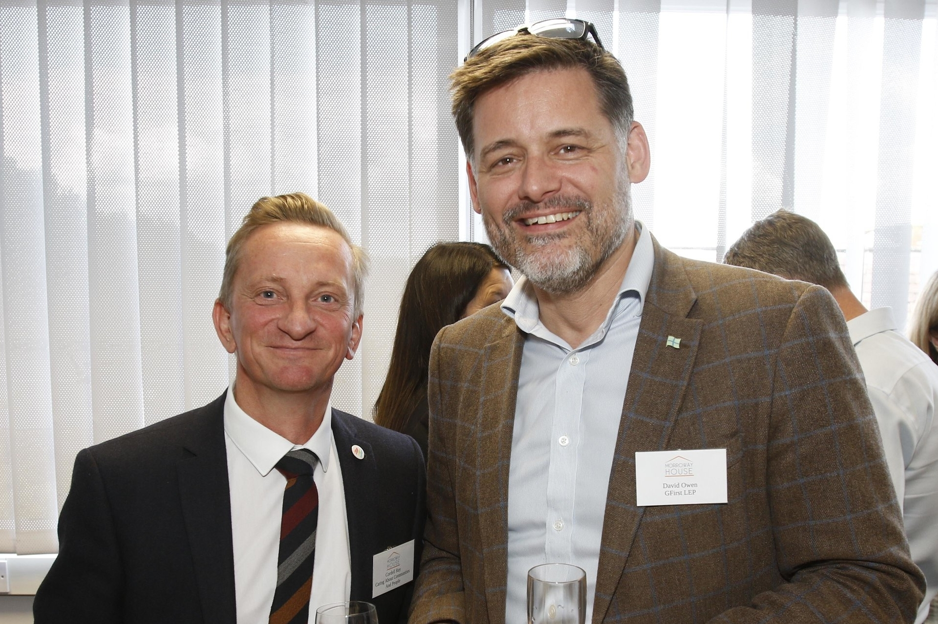 Cordell Ray from CCP charity, and David Owen from GFirst LEP, at the official opening of Morroway House, on Station Road, Gloucester, the community interest company providing office space for charities and good causes. 20 June 2019 Picture by Andrew Higgins/Thousand Word Media   NO SALES, NO SYNDICATION. Contact for more information mob: 07775556610 web: www.thousandwordmedia.com email: antony@thousandwordmedia.com  The photographic copyright (©2019) is exclusively retained by the works creator at all times and sales, syndication or offering the work for future publication to a third party without the photographer's knowledge or agreement is in breach of the Copyright Designs and Patents Act 1988, (Part 1, Section 4, 2b). Please contact the photographer should you have any questions with regard to the use of the attached work and any rights involved.